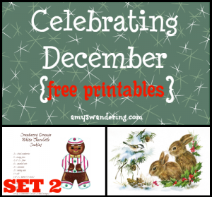 Celebrating December Printables set 2