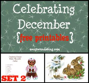 Celebrating December Printables set 2