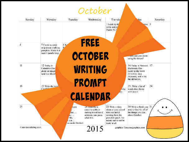 FREE August Writing Prompt Calendar