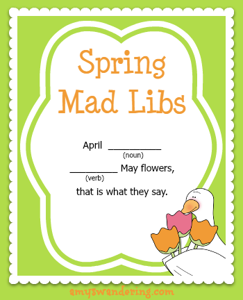 Spring Mad Libs