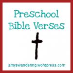 Preschool Bible Verses
