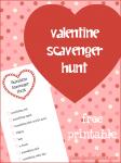 Valentine Scavenger Hunt