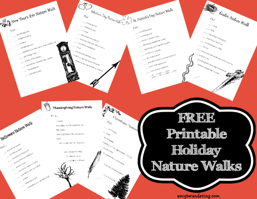 Free Printable Holiday Nature Walks