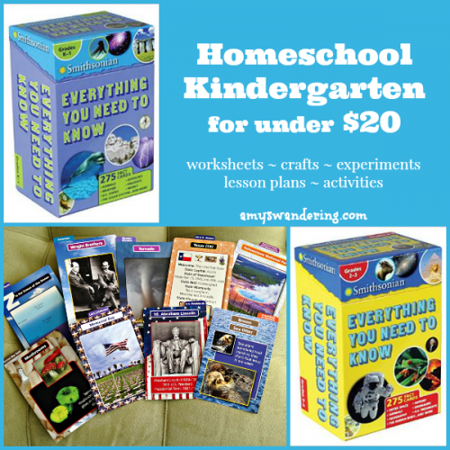 Homeschool Kindergarten for Under $20