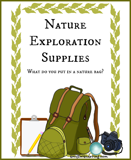 Nature Exploration Supplies - tips on assembling a nature walk bag