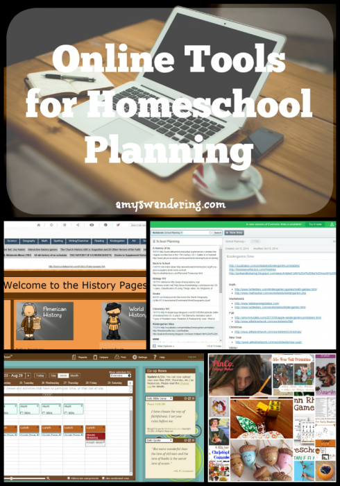 Online Tools for Homeschool Planning - four sites that work for me and keep my homeschool on course!