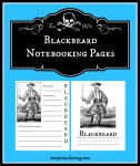 Blackbeard Notebooking Pages