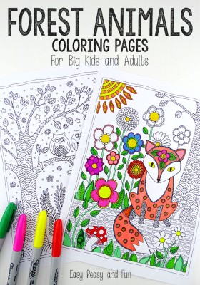 Forest-Animals-Coloring-Pages
