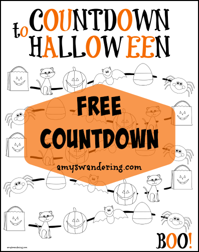 FREE Reformation Day & Halloween Countdowns - Amy's Wandering