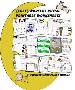 Nursery rhyme Worksheets