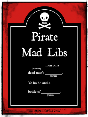 Pirate Mad Libs