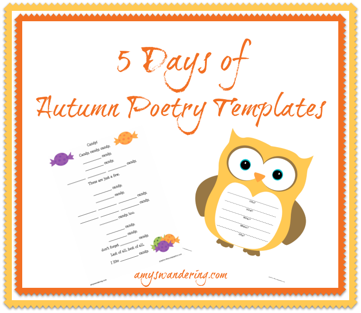 5 Days of Autumn Poetry Templates