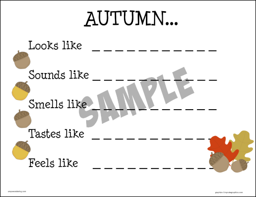 Autumn 5 Senses sample