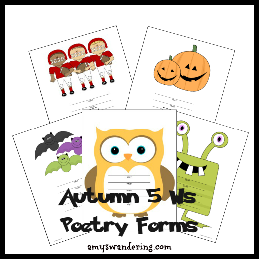 Autumn 5 Ws Poetry Forms