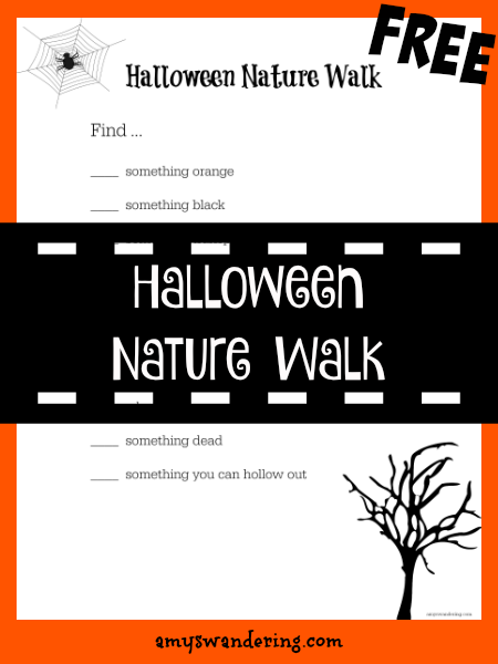 FREE Halloween Nature Walk Printable