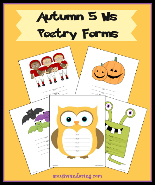 Free Autumn 5 Ws Poem Printables
