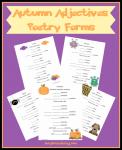 Autumn Adjective Poems
