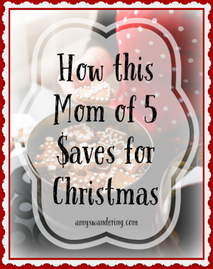 How this Mom of 5 Saves for Christmas