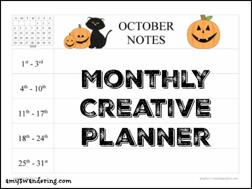 October Creative Planner