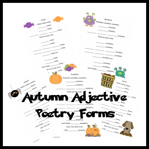 autumn adjective poetry forms