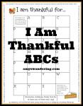 I Am Thankful ABCs printable