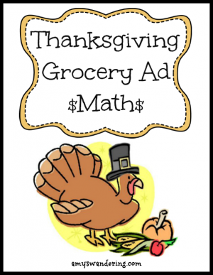 Thanksgiving Grocery Ad Math