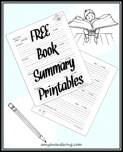FREE Book Summary Printables