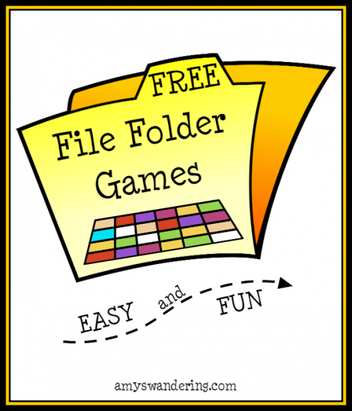 FREE File Folder Games - Amy's Wandering