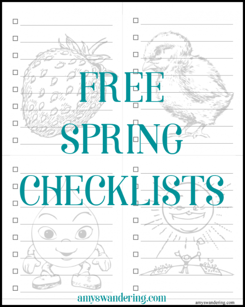 FREE Spring Checklists