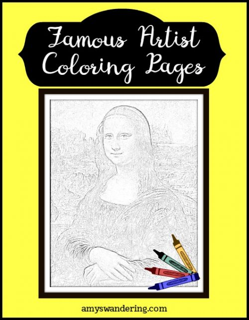 Famous Artist Coloring Pages