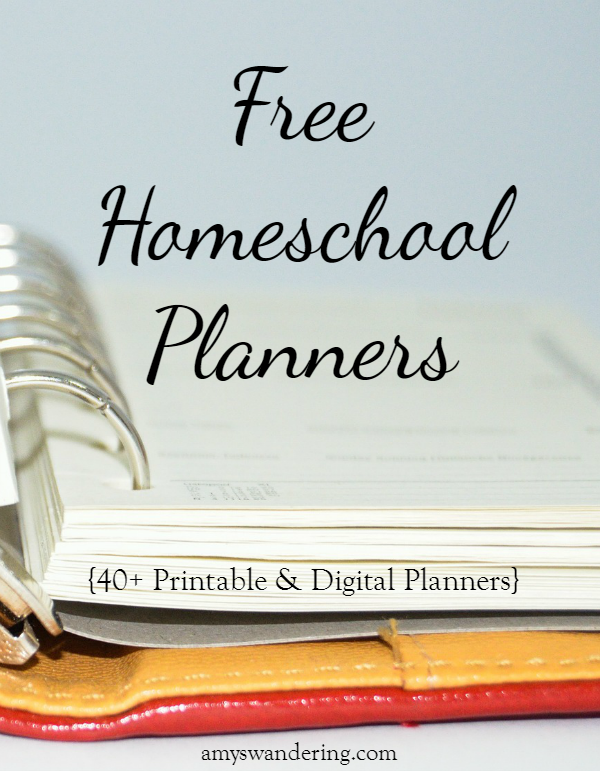 image relating to Printable Homeschool Planners titled Cost-free Homeschool Planners - Amys Wandering