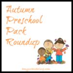 Autumn Preschool Pack Roundup