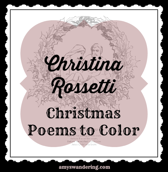 Christina Rossetti Christmas Poems to Color