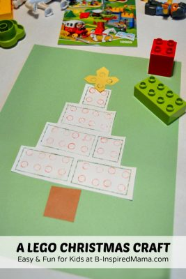 Christmas Tree Craft @ B-Inspired Mama