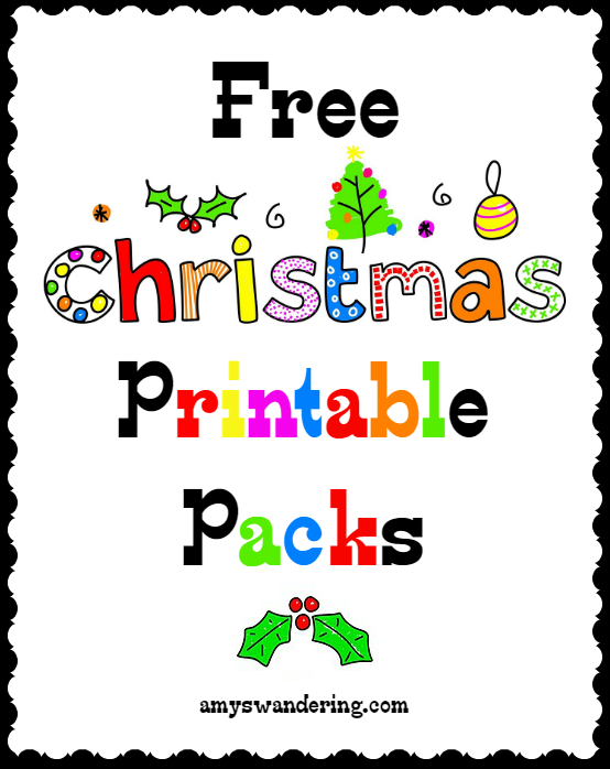 Free Christmas Printable Packs