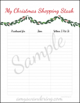 Christmas Shopping Planner Page