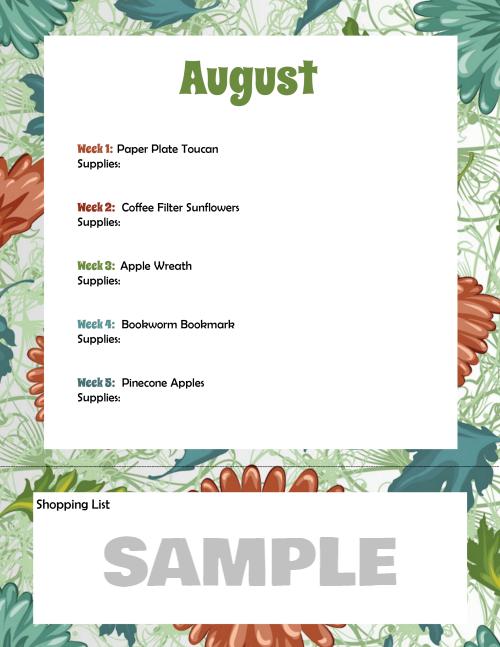 smCraft Planner August