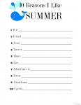10 Reasons I Like Summer