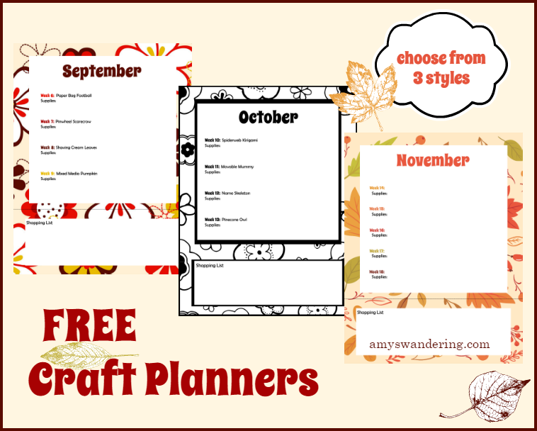 Free Craft Planners