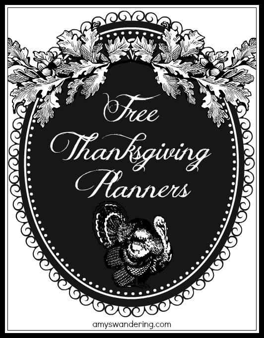 Big List of FREE Thanksgiving Planners