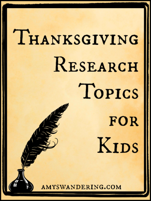 Thanksgiving Research Topics for Kids