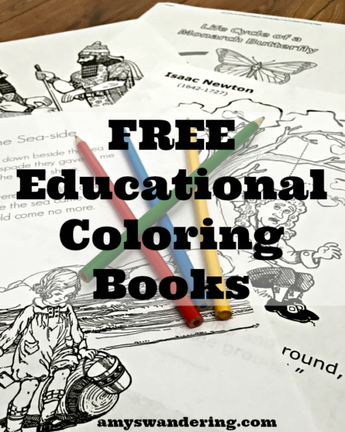 Free Educational Coloring Books