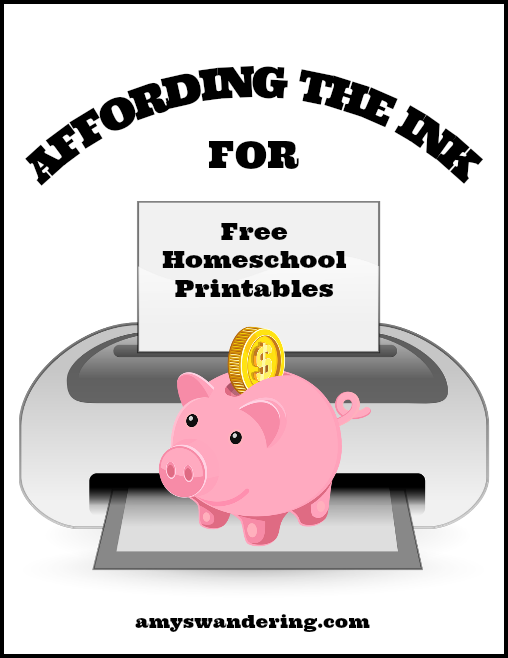 Affordable Ink for Free Homeschool Printables