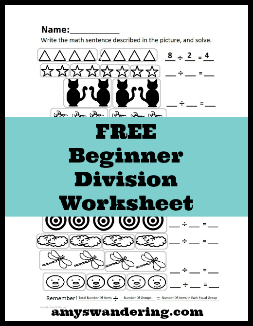 Free Beginner Division Worksheet