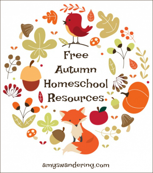 Free Autumn Homeschool Printables, Lessons Plans, and Activities