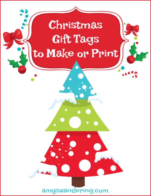 Christmas Gift Tags to Make or Print