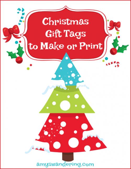 Christmas Gift Tags to Make or Print