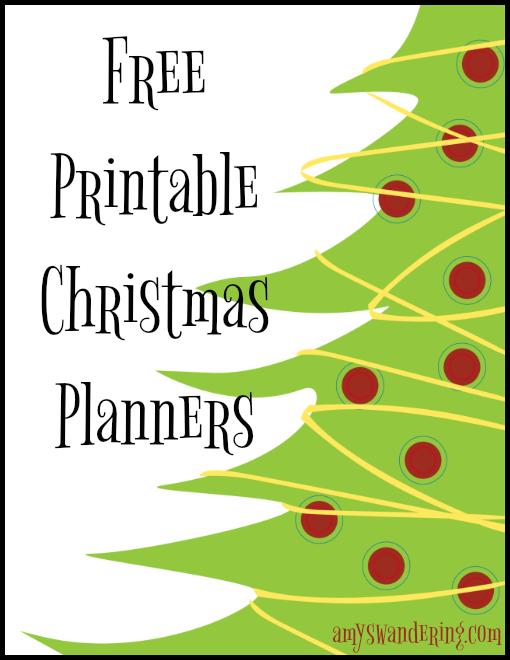 Free Printable Christmas Planners