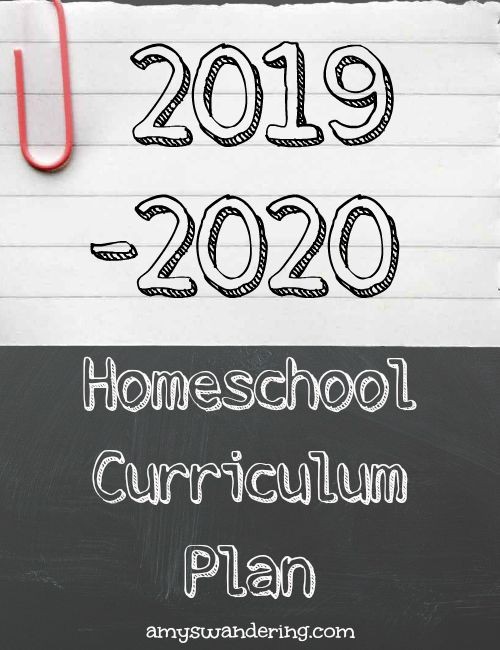 2019-2020 Curriculum Plan